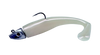 """Al Gags Whip It Fish Pearl White Rattle Head 6"""" 5oz (1 Head / 2 Tails)"""