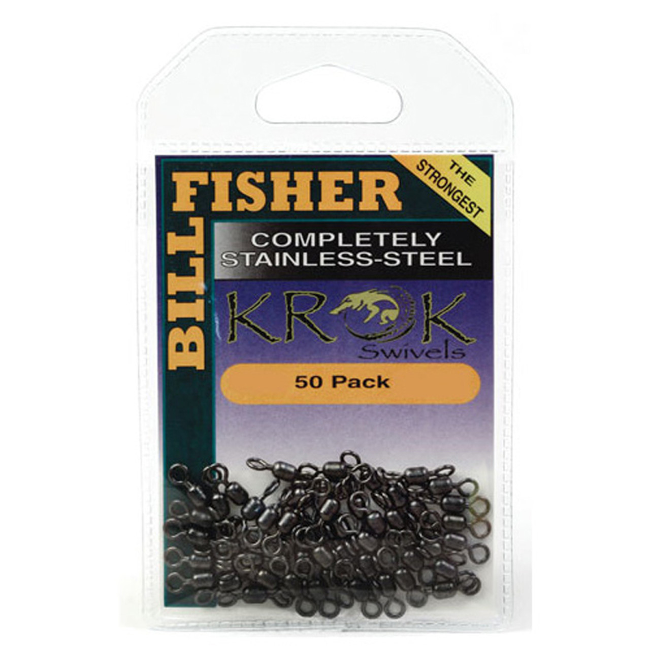 Krok Billfisher Swivels 180 Pound 50 Pack