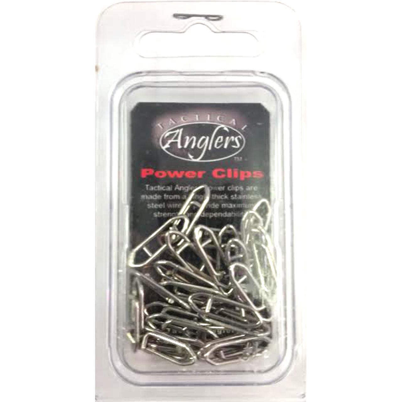 Tactical Angler Clips 50 lb Test 30pk (Silver)