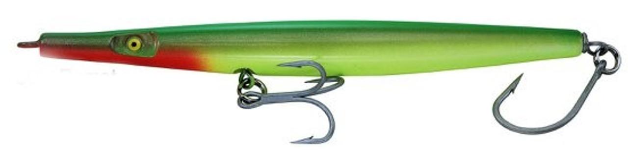 "Super Strike Lures Super ""N"" Fish Needlefish Sink Parrot 6 3/8"" 2 3/8oz"