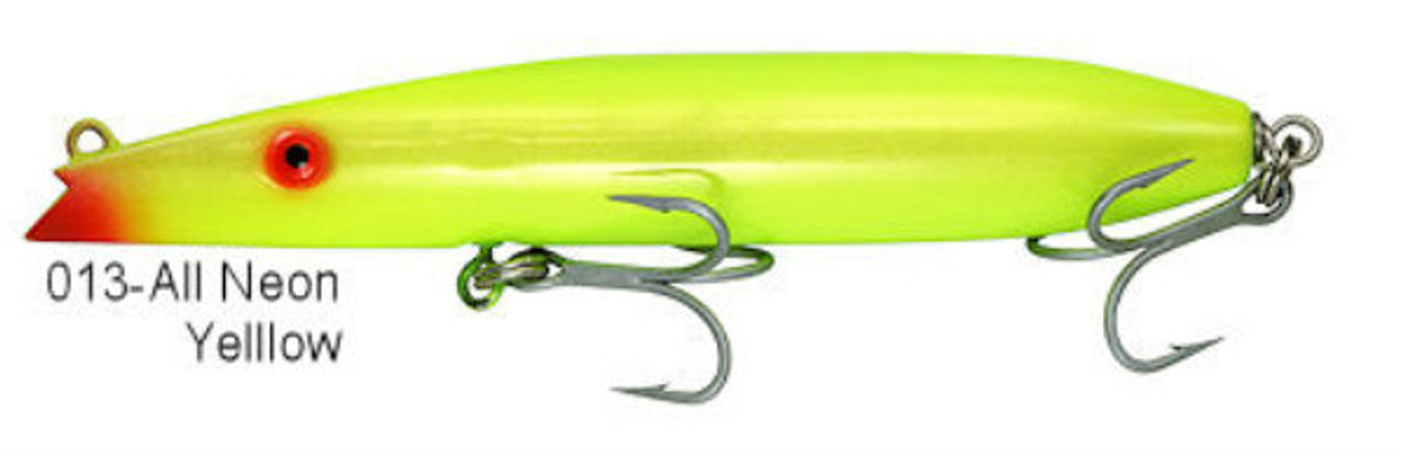 "Super Strike Lures Zig Zag Darter All Neon Yellow 6 5/8"" 2 3/8 oz"