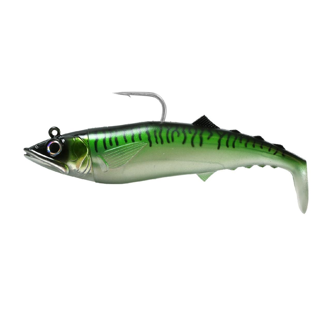 "FishLab Mack Attack Soft Shad 6.5"" 5.5oz Green Mack"
