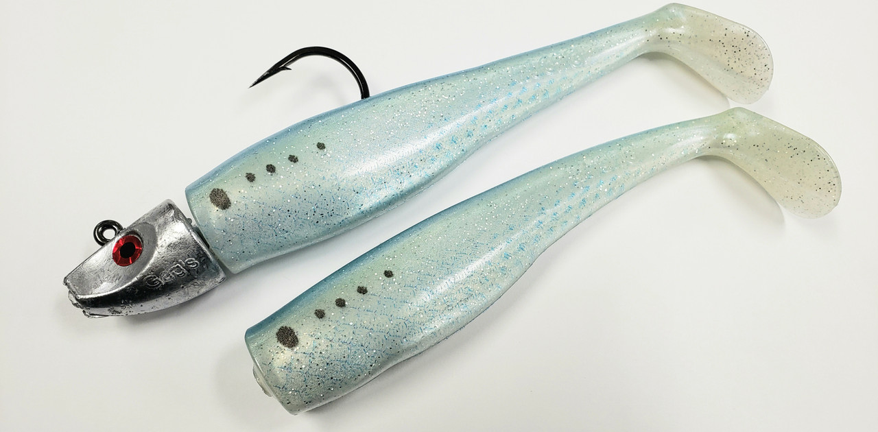 """Al Gags Whip It Fish Bunker 4"""" 3/4oz (1 Head / 2 Tails)"""