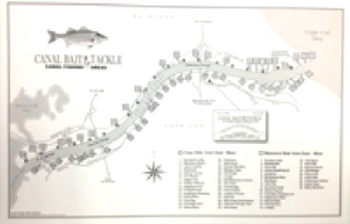 Cape Cod Canal Fishing Map