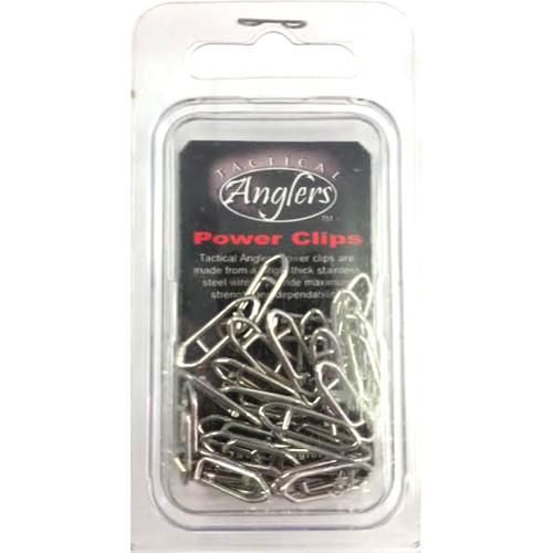 Tactical Angler Clips 125 lb Test 25pk (Silver)