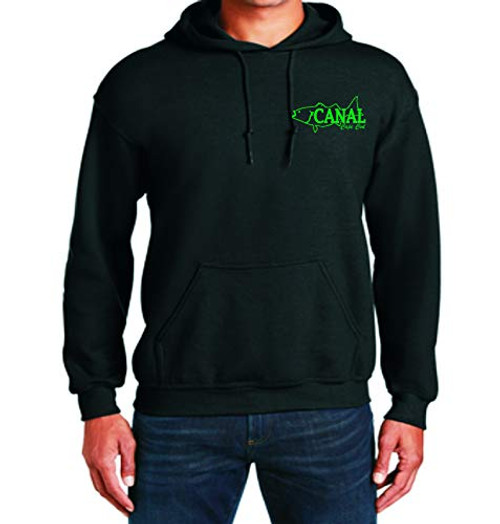Canal Bait Pull Over Sweat Shirt Black Large