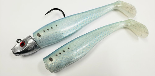 """Al Gags Whip It Fish Bunker 5"""" 1.5oz (1 Head / 2 Tails)"""