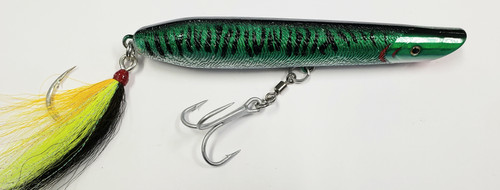 "Striper Gear Loaded Cordell Pencil Popper Rocket 6"" 3.5oz Mackerel"