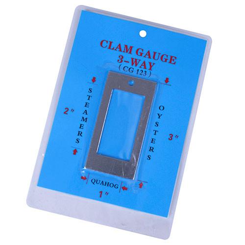 KB White 3 Way Clam Gauge