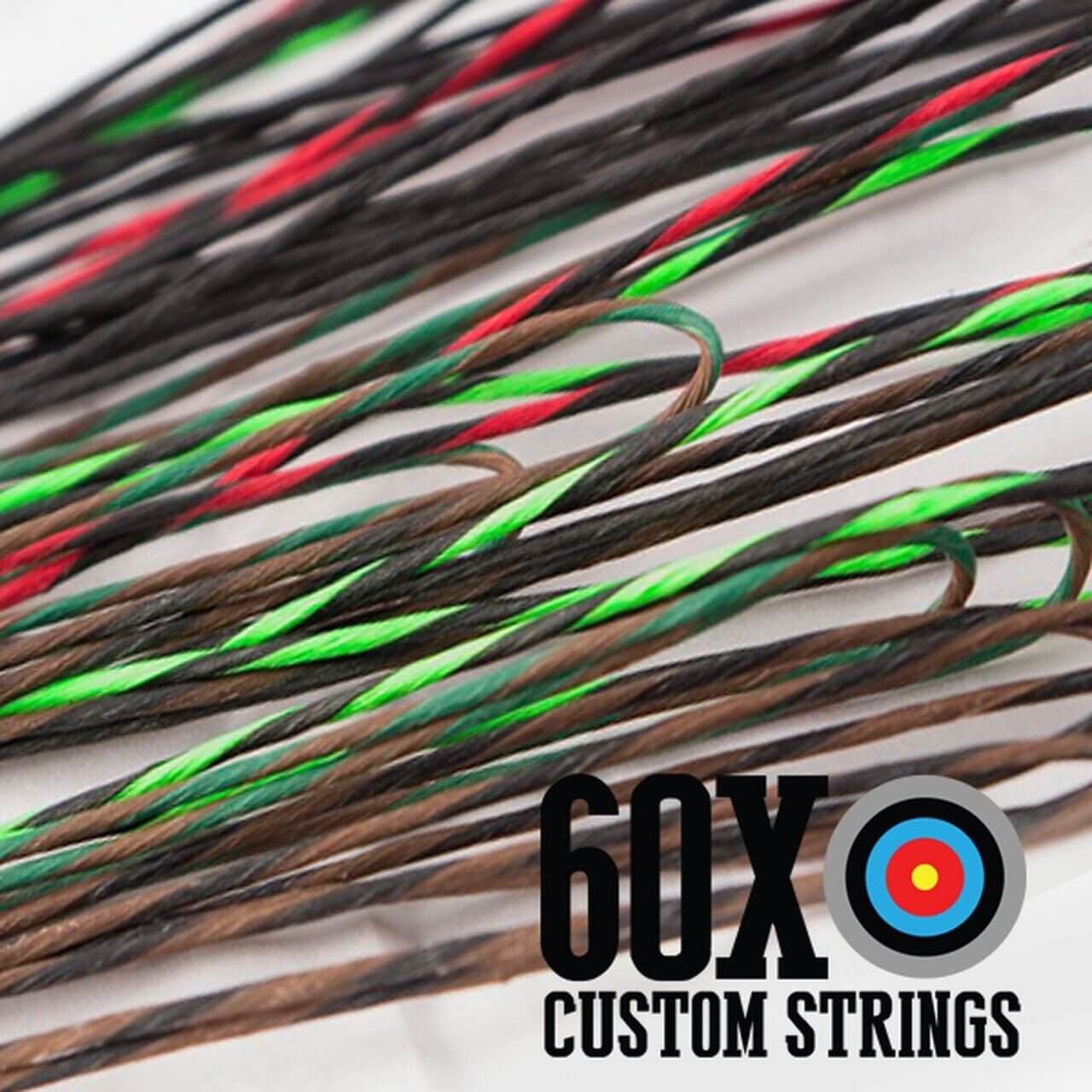 """58 1//2/"""" Replacement Compound Bow String 60X Custom Strings Bowstring Bowstrings"""