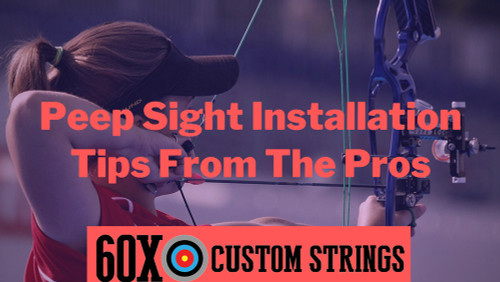 PEEP SIGHT INSTALLATION TIPS FROM THE PRO'S
