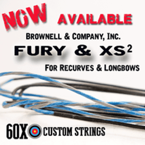 RECURVE BOWSTRINGS IN BROWNELL FURY & XS2