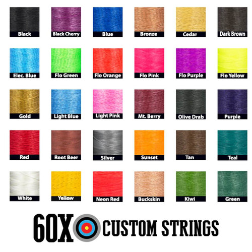 60X BCY-X 4 Color Custom Compound Bow String Color Options