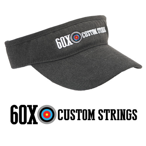 Visor with the 60X Custom Strings logo