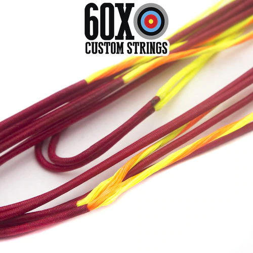 """65/"""" 8125G Flo Pink Recurve Bowstring by 60X Custom Strings Bow Traditional"""