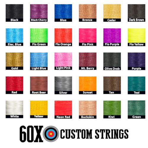 60X Custom Strings 30 String Colors - Hoyt Pro Comp Elite FX