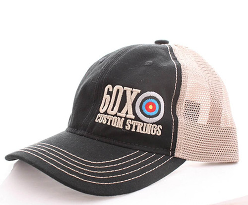 60X Custom Bowstrings Mesh Back Baseball Hat