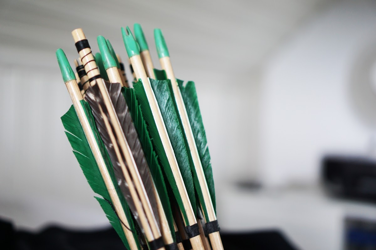 green fletched arrows
