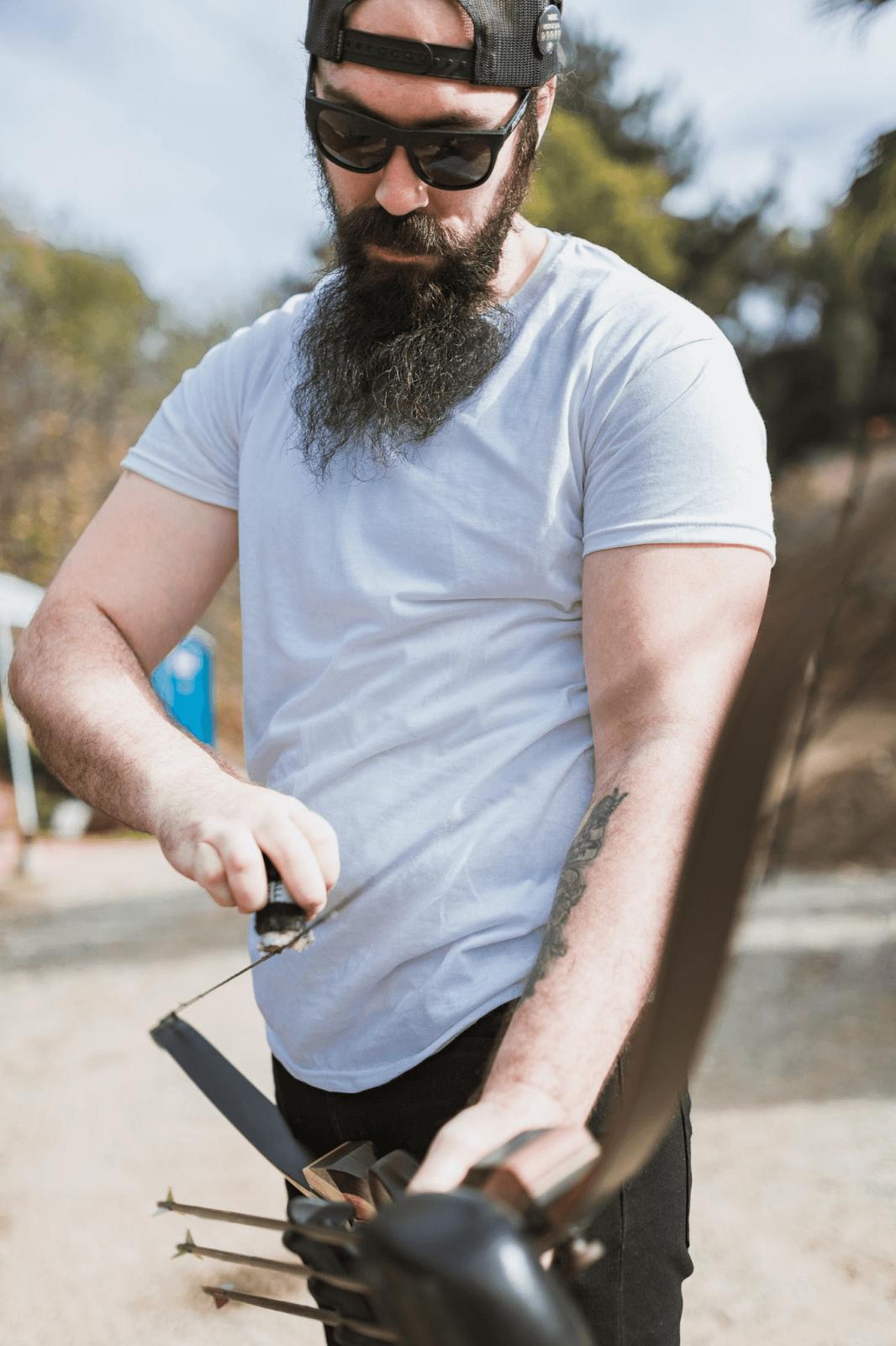 Man with an archery bow