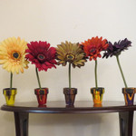 Drip-Painted Flower Pots