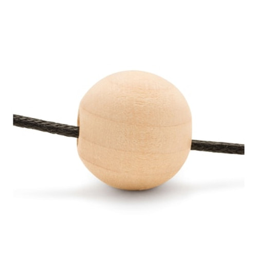"1-1/2"" Round Wooden Ball Bead, 3/8"" Hole"