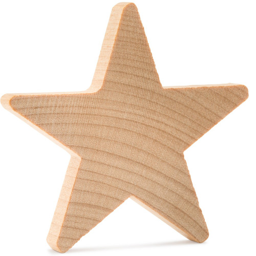 Unfinished wood star