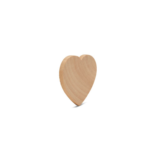"2"" Wood Heart Cutout, 3/16"" Thick"