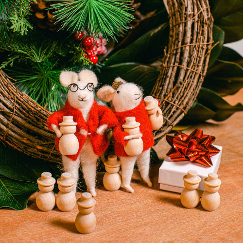 """Unfinished Wooden Snowman Mini, 1-13/32"""""""