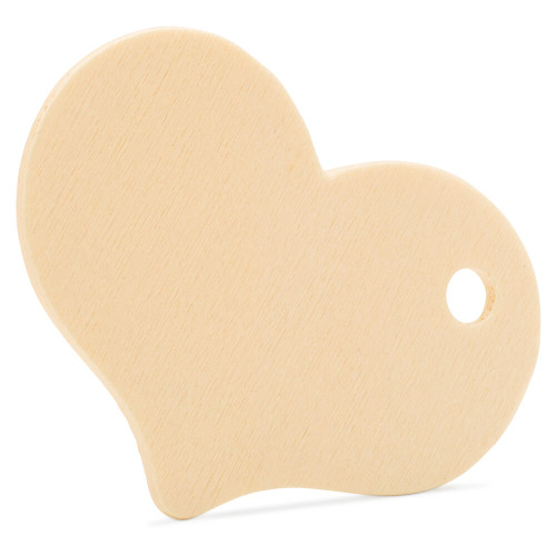 """2- 5/16"""" Wooden Heart Gift Tag"""