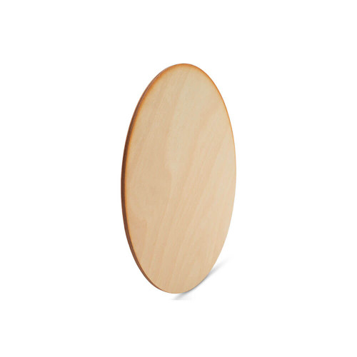 "4-1/2"" x 1/8"" Circle Wood Cutout, Dark Edged"