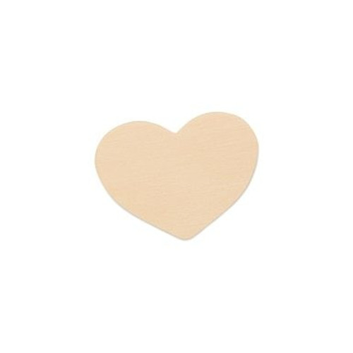 "2""  Wooden Heart Cutout"