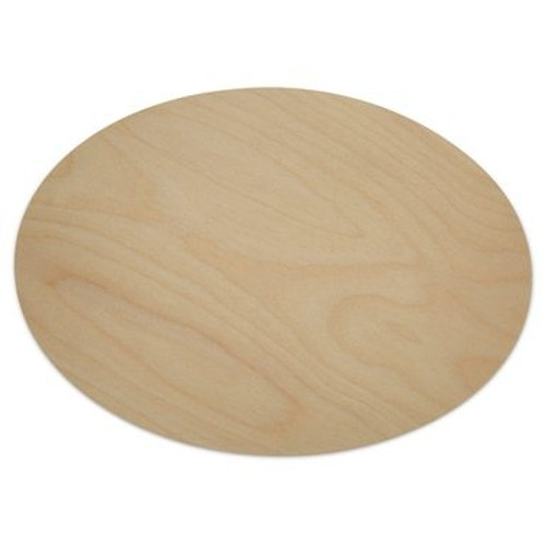 """8-1/2"""" Oval Wooden Cut Out 8-1/2"""" X 12"""" X 1/8"""""""