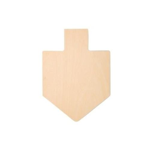 "8-1/2"" Dreidel Wood Cutout, 8-1/2""x 12""x 1/8"""
