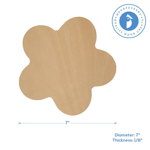 "7"" Wooden Flower Cutout"