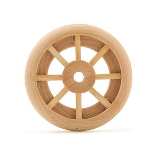 "2"" Spoked Wood Wheel and Axle"