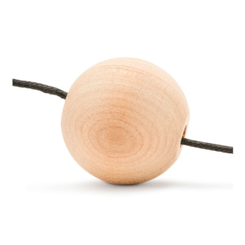 "1-1/2"" Wood Ball Bead, 1/4"" Hole"