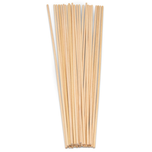 wooden dowels rods sticks for crafting, macramé, woodworking and DIY projects , 1/8 diameter and 12 inch or 1 foot long.