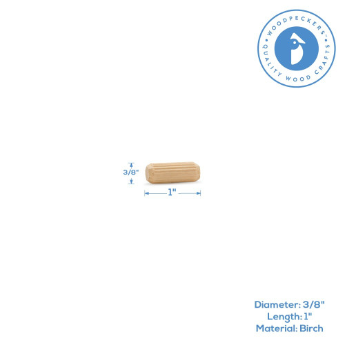 "1"" x 3/8"" Fluted Dowel Pin"