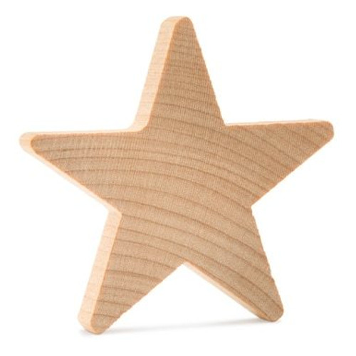 "1"" Wooden Star, 3/16"" Thick."