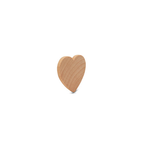 "1-1/2"" Wood Heart Cutout, 1/4"" thick"