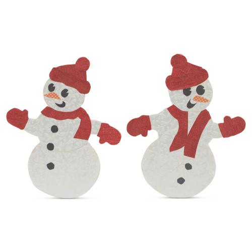 """Snowman Cutout Large 11-1/2""""L x 9-1/4""""W"""