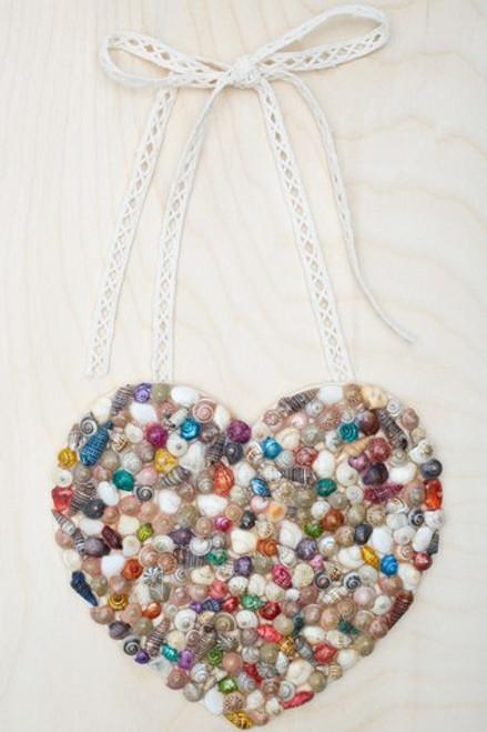 Seashell Heart Hanging