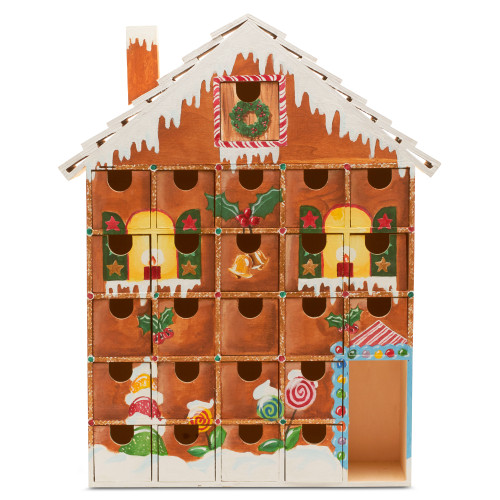 Unfinished Wooden Advent Christmas Calendar House