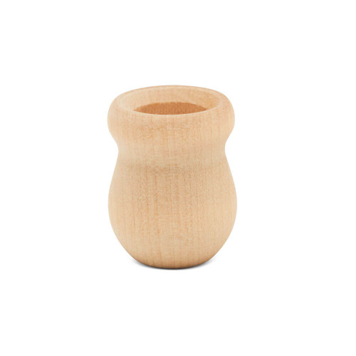 """1"""" Bean pot candle cup, 1 inch Bean pot candle cup, bulk unfinished, small bean pot candle cup, bean pot for DIY crafting projects."""