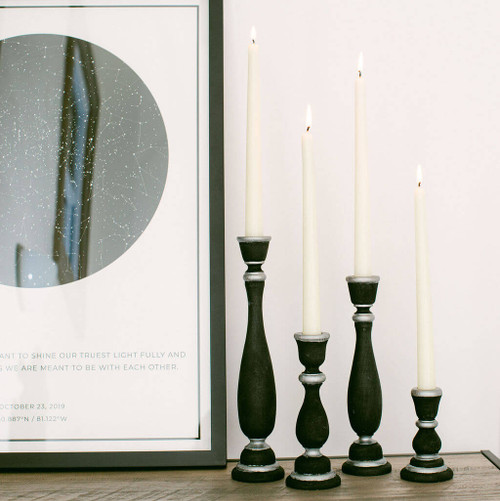"""11"""" candlestick, 11 inch candlestick, candlestick, bulk unfinished wooden candlestick for DIY crafting projects."""