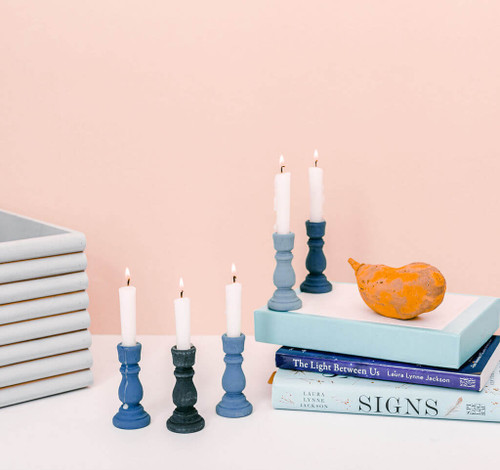 """3"""" candlestick, 3 inch candlestick, small candlestick, bulk unfinished wooden candlestick for DIY crafting projects."""