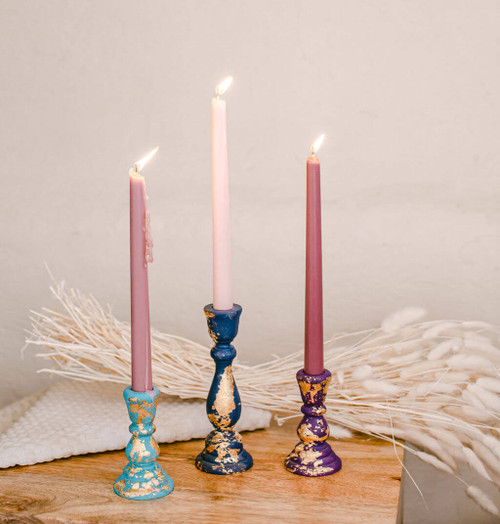 """6-3/4"""" candlestick, 6-3/4 inch candlestick, candlestick, bulk unfinished wooden candlestick for DIY crafting projects."""