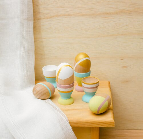 "Wooden Egg Cup Holders for 2-1/2"" Egg"
