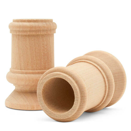 "2-1/2"" classic candle cup, 2-1/2 inch classic candle cup, candlestick, candle cup, bulk unfinished wooden candle cup for DIY crafting projects."