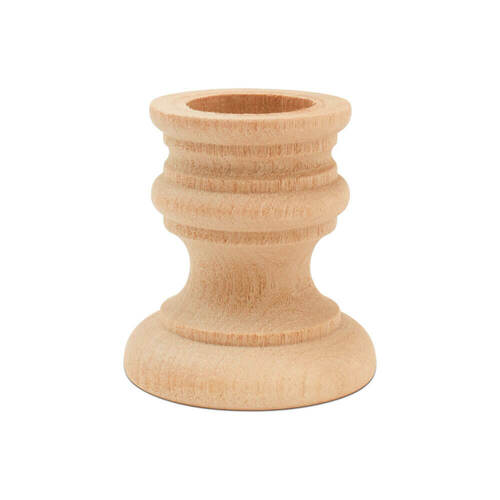 "1-7/8"" country candle cup, 1-7/8 inch country candle cup, candlestick, candle cup, bulk unfinished wooden candle cup for DIY crafting projects."